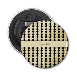 Diamantes simétricos elegantes del oro negro y abrebotellas
