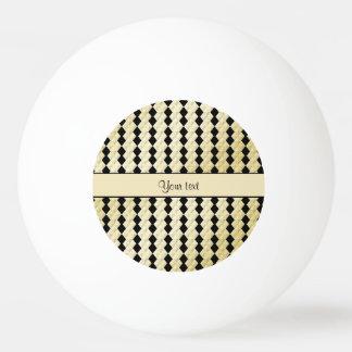 Diamantes simétricos elegantes del oro negro y pelota de ping pong