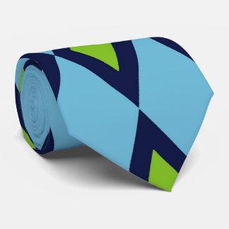 Diamantes verdes blancos azules del lazo retro del corbata personalizada