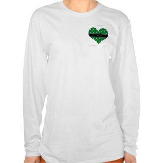 Diamantes verdes conocidos personalizados del camiseta