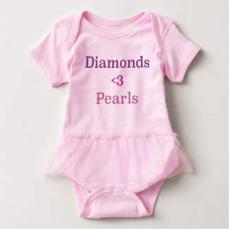 Diamantes y tutú de las perlas body para bebé