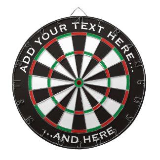 Diana Dartboard clásico con el texto de encargo