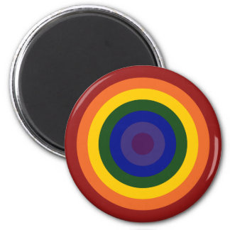 Diana del arco iris imán redondo 5 cm