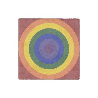 Diana del arco iris imán de piedra
