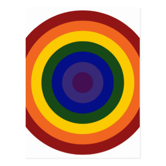 Diana del arco iris postal