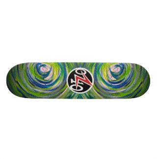 Diana del verde azul tabla de skate
