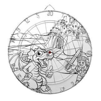 Diana Dibujo animado del castillo del dragón y del