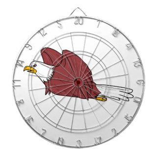 Diana Eagle calvo que vuela el dibujo animado