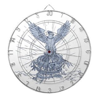 Diana Eagle y dibujo de las montañas del dragón