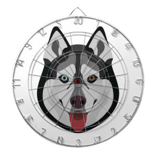 Diana El ilustracion persigue el husky siberiano de la