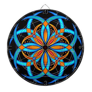 Diana mandala digital anaranjada del arte de las azules
