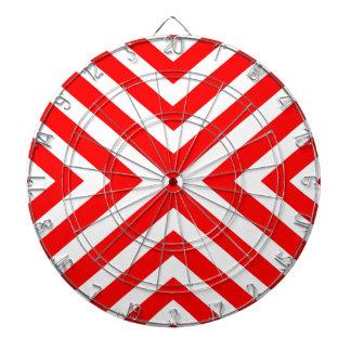Diana Modelo geométrico abstracto - rojo y blanco