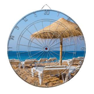 Diana Parasol de mimbre con la playa beds.JPG