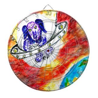 Diana Perro extranjero en arte del espacio