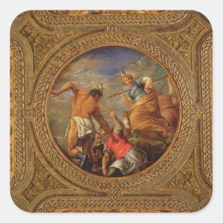 Diana y Actaeon, del techo de la biblioteca Pegatina Cuadrada