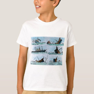 Diapositiva de linterna mágica de hundimiento camiseta