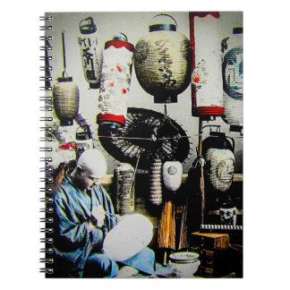 Diapositiva de linterna mágica el pintor Japón Libro De Apuntes Con Espiral