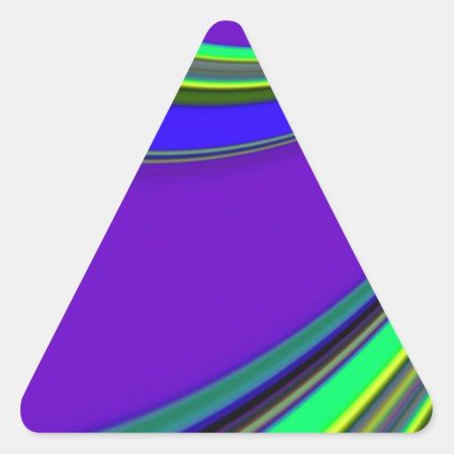 Diapositiva reconstruida calcomanías trianguladas