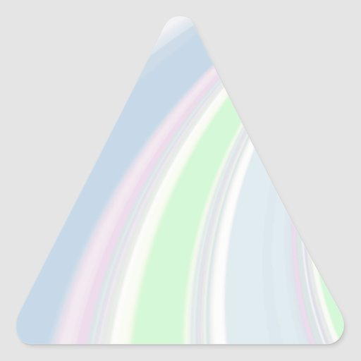 Diapositiva reconstruida calcomania triangulo personalizadas