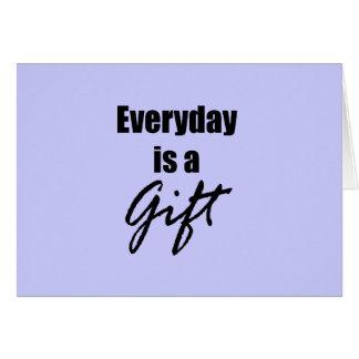 Diaria es una tarjeta de nota del regalo