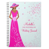Diario afroamericano del boda de la dama de honor libro de apuntes