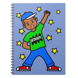 Diario afroamericano lindo del ganador del cuaderno