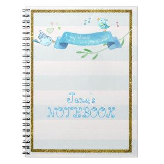 Diario alegre de los Bluebirds Cuaderno
