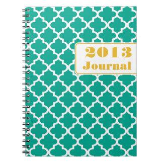 Diario anual de moda de la teja marroquí amarilla  libreta