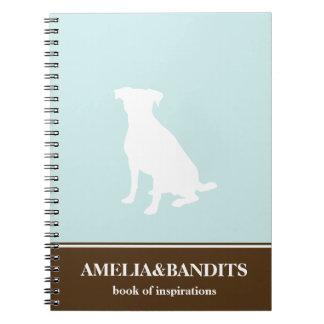 Diario azul de la inspiración del perro de la silu cuadernos