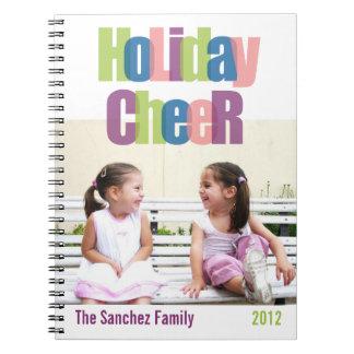 Diario colorido de la foto de familia de la alegrí libro de apuntes