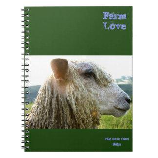 Diario/cuaderno del amor de la granja
