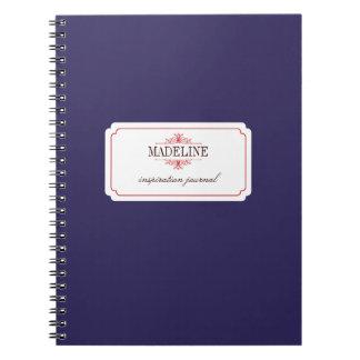 Diario de encargo de la inspiración de los azules  libro de apuntes