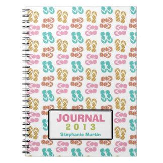 Diario de encargo del año de la sandalia del flip- cuadernos