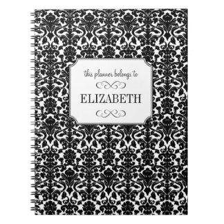 Diario de encargo del planificador del boda del da cuaderno