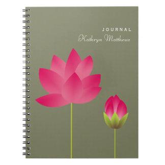 Diario de florecimiento del flor de la flor del lo libreta