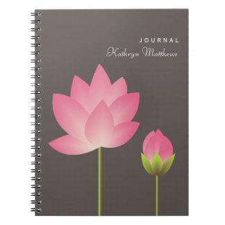 Diario de florecimiento del flor de la flor del lo libretas espirales