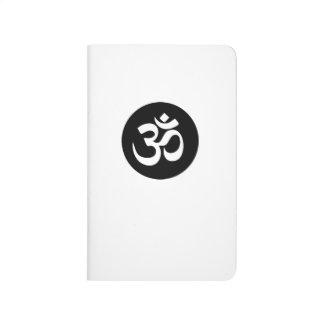 Diario del bolsillo del círculo del símbolo de OM