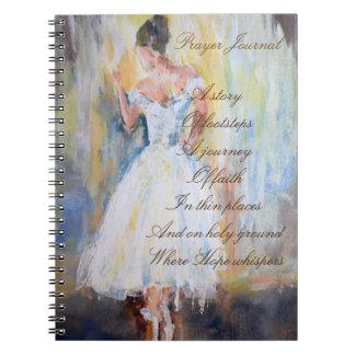 Diario del rezo con el bailarín cuaderno