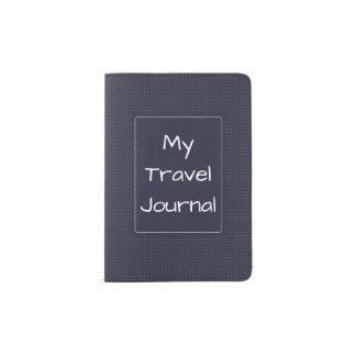 Diario del viaje de la cubierta del pasaporte portapasaportes