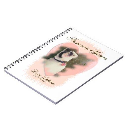 """Diario diario """"para siempre el suyo letras de amor libro de apuntes con espiral"""