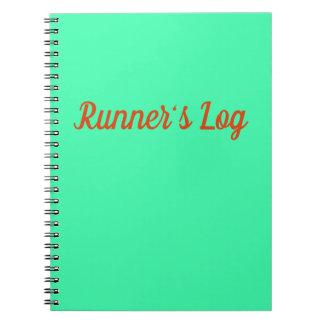 Diario espiral azul del cuaderno corriente del