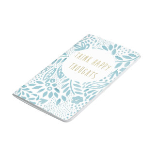 Cuaderno De Viaje Diario feliz azul del bolsillo de los pensamientos