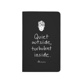 Diario negro interior turbulento del bolsillo