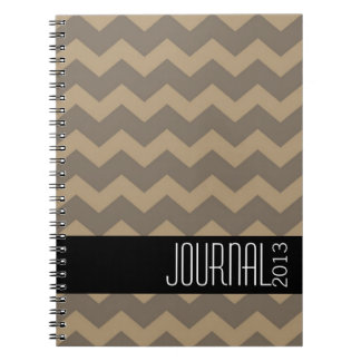 Diario personal moderno negro gris del modelo de C Libros De Apuntes Con Espiral
