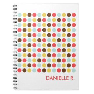 Diario personalizado blanco anaranjado del modelo  libretas espirales