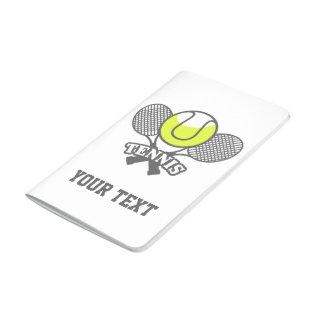 Diario personalizado de la estrella de tenis