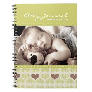 Diario personalizado del bebé libro de apuntes