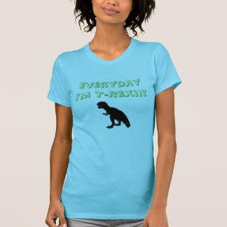 Diario soy camiseta de T-Rexin con la silueta