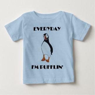 Diario soy pájaro del frailecillo de Pufflin Camiseta De Bebé