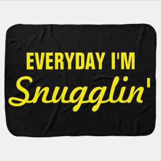 Diario soy Snugglin divertido Mantitas Para Bebé